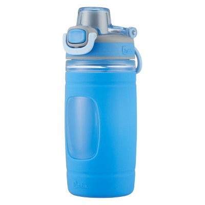Bubba Flo 16oz Plastic/Silicone Kids Water Bottle Blue/Gray