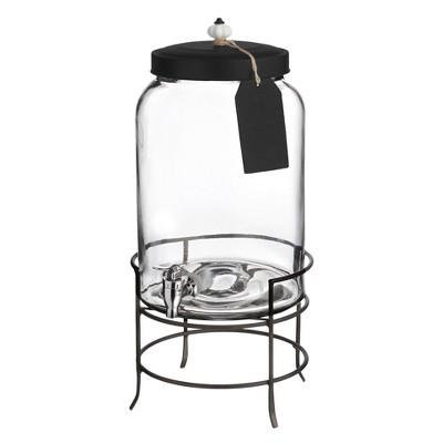 Style Setter® Franklin 3gal Glass Beverage Dispenser with Metal Stand