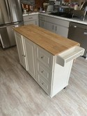 Liberty Kitchen Cart With Wood Top Home Styles Target