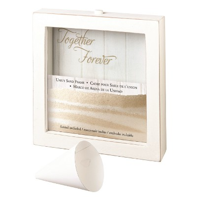Lillian Rose White Unity Sand Ceremony Picture Frame