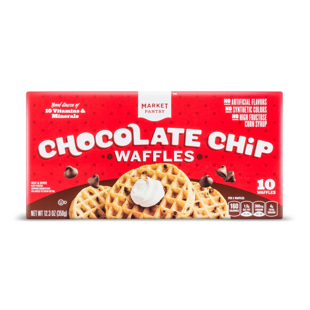 Image of Chocolate Chip Frozen Waffles - 10ct - Market Pantry