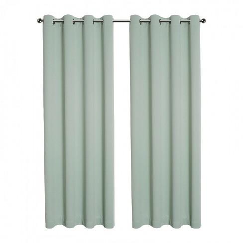 Kate Aurora Hotel Living 2 Pack 100% Blackout Grommet Top Sage Green Curtain Panels - image 1 of 4