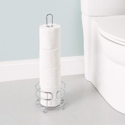 Home Basics Chrome Plated Steel Bath Tissue Reserve : Target