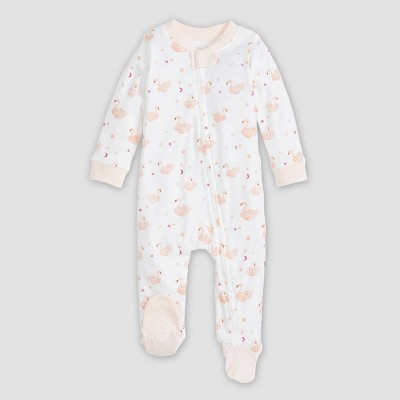 Burt's Bees Baby® Baby Girls' Organic Cotton Graceful Swan Sleep N' Play - Pink 0-3M