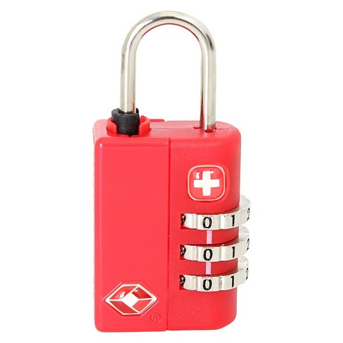 SwissGear 3-Dial Combination Luggage Lock - Red - image 1 of 3
