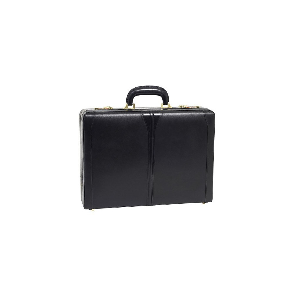 McKlein Turner Leather 4.5 Expandable Attache Briefcase (Black)