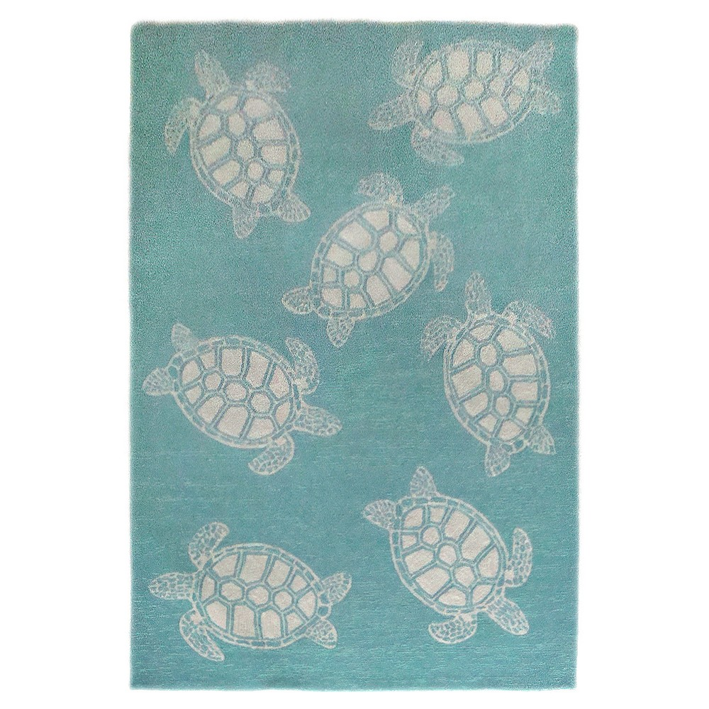 Capri Turtle Rug - Blue - (7'6