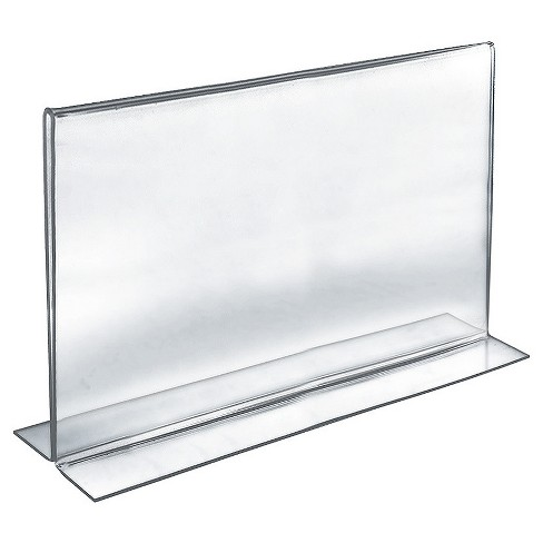 "Azar® 17 "" x 11"" Double-Foot  Acrylic Sign Holder 10ct - image 1 of 1"