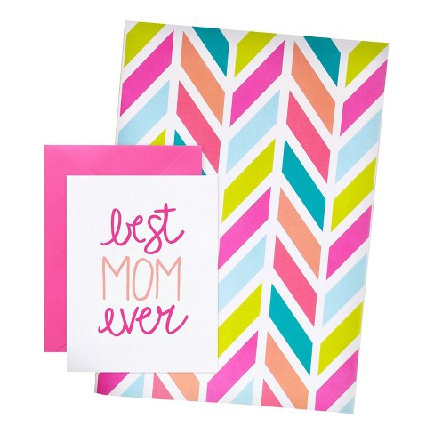meant to be sent® Mother's Day Card With Matching Giftwrap Set - image 1 of 3