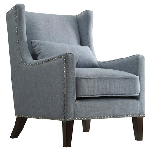 Murray Wingback Arm Chair Blue - Inspire Q - image 1 of 3