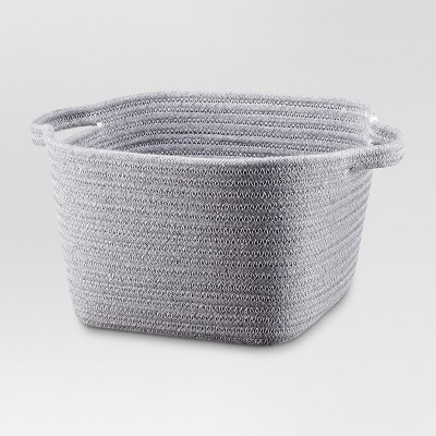 Small Coiled Rope Basket - Gray - Threshold™