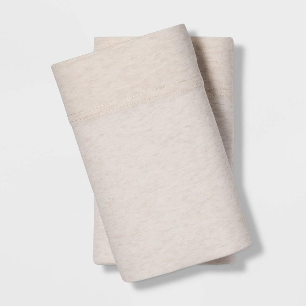 Standard Tencel Jersey Blend Pillowcase Set Beige - Project 62 + Nate Berkus