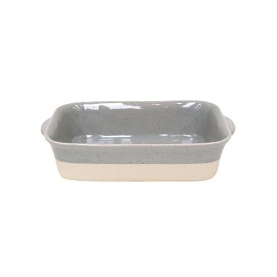 Casafina Fattoria Gray Stoneware 11 x 7 Inch Rectangular Baker