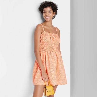 Women's Woven Sleeveless Smocked Waist Fit & Flare Dress - Wild Fable™