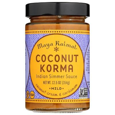 Maya Kaimal Coconut Korma Mild Simmer Sauce - 12.5oz