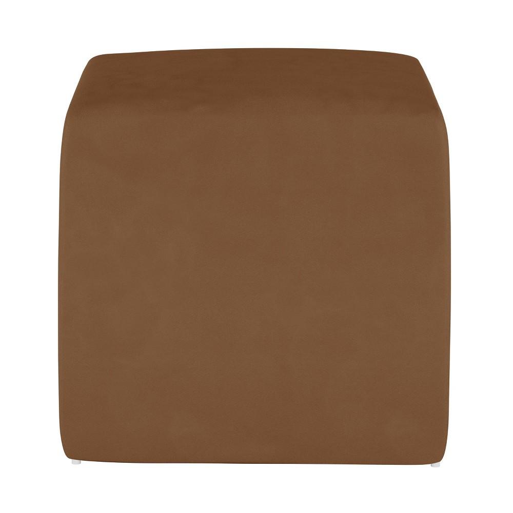 Image of Kids Cube Ottoman Premier Chocolate - Pillowfort