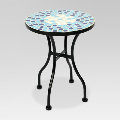 Mosaic Patio Accent Table - Blue - Threshold™