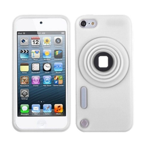 MYBAT For Apple iPod Touch 5th Gen/6th Gen White Camera Style Skin Rubber Case w/stand - image 1 of 4