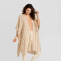 Women's Striped Kimono - Universal Thread™ Brown One Size
