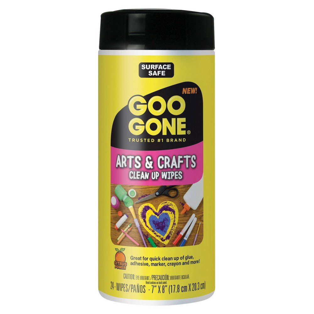 Image of Arts and Crafts Clean-Up Wipes 24ct Citrus - Goo Gone, White