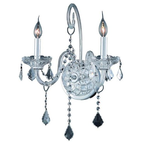 Elegant Lighting 7852W2C Verona 2-Light Crystal Wall Sconce, Finished in Chrome - image 1 of 1