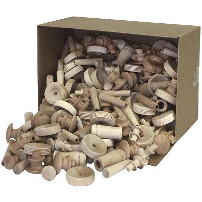 Creativity Street Assorted Wood pc and Shapes, 18 Pounds