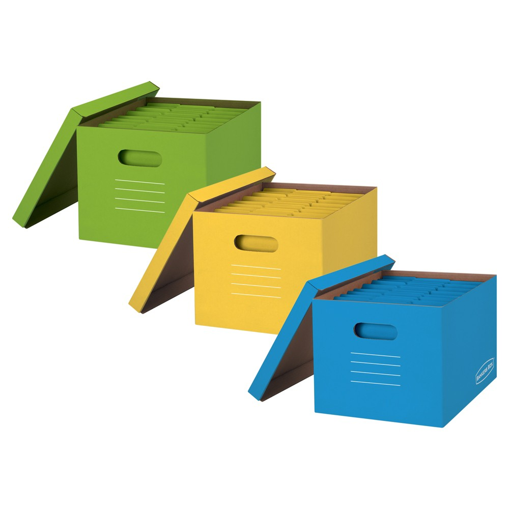 Bankers Boxes Storage Boxes, 3ct - Multicolor, Red