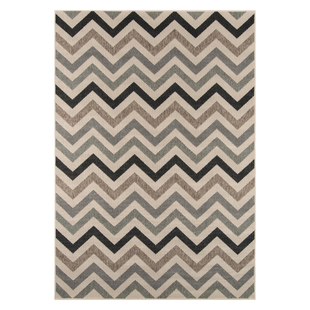 "Image of ""1'8""""X3'7"""" Chevron Loomed Accent Rug Sage (Green) - Momeni"""