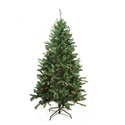 Bright Gate 7.5' Prelit Artificial Christmas Tree Traditional Mixed Pine - Clear Lights