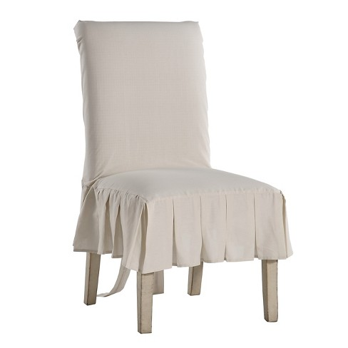 Fabulous Natural Cotton Duck Pleated Dining Chair Slipcover Cjindustries Chair Design For Home Cjindustriesco