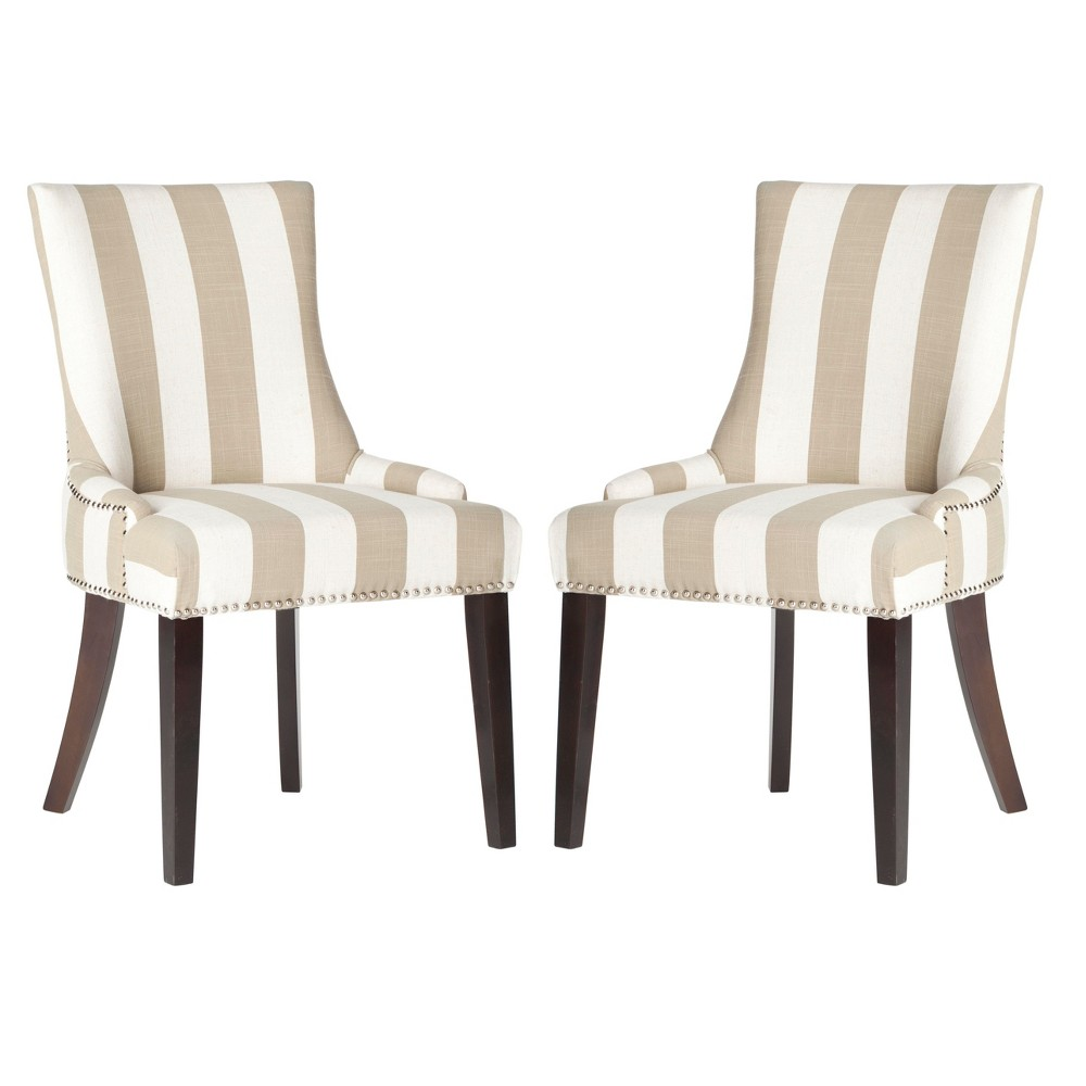 Lola Dining Chair - Taupe (Brown) (Set of 2) - Safavieh