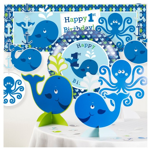 Ocean Preppy Boy 1st Birthday Party Decorations Kit - image 1 of 1