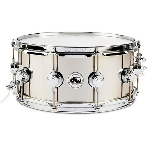 DW Collector's Series Stainless Steel Snare Drum with Chrome Hardware 14 x 6.5 in. Polished - image 1 of 4