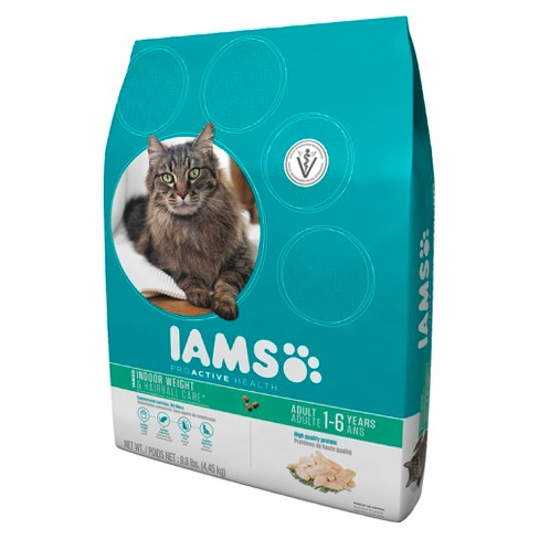 Iams ProActive Health Adult Indoor Weight & Hairball Care Dry Cat Food 9.8 lbs - image 1 of 1