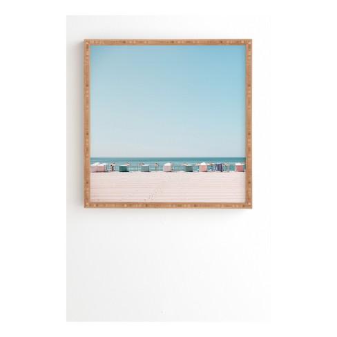 Beach Huts set of 3 canvas wall art framed prints wall decoration