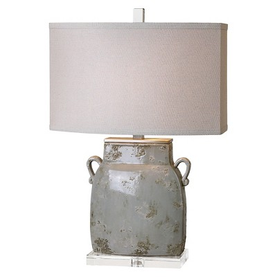 Uttermost Melizzano Table Lamp  - Light Gray/Ivory