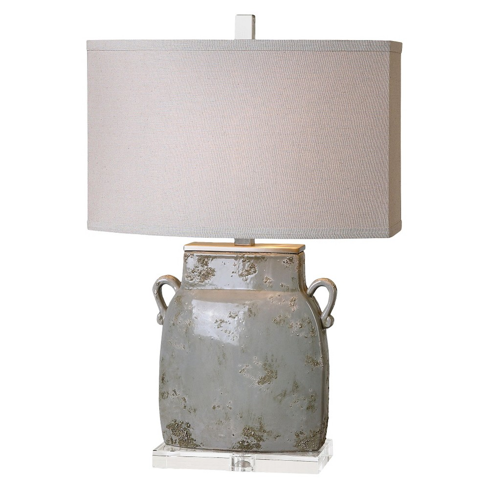 Uttermost Melizzano Table Lamp (Lamp Only) - Light Gray/Ivory