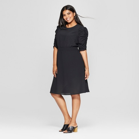 Women's Plus Size Smocked Waist Dress - Who What Wear™ - image 1 of 3