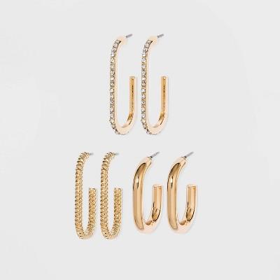 SUGARFIX by BaubleBar Gold Huggie Hoop Earring Set - Gold