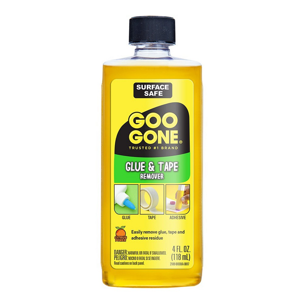 Glue and Tape Remover 4oz - Goo Gone, Kids Unisex, Yellow Messes happen while crafting, it's inevitable. With Good Gone Glue and Tape Remover you can quickly and easily clean up a variety of messes. It works on a variety of glues, tapes, labels and stickers. Color: Yellow. Gender: Unisex. Age Group: Kids.