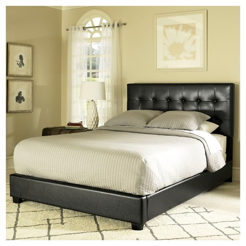 Andover Queen Bed Set Black - Crosley
