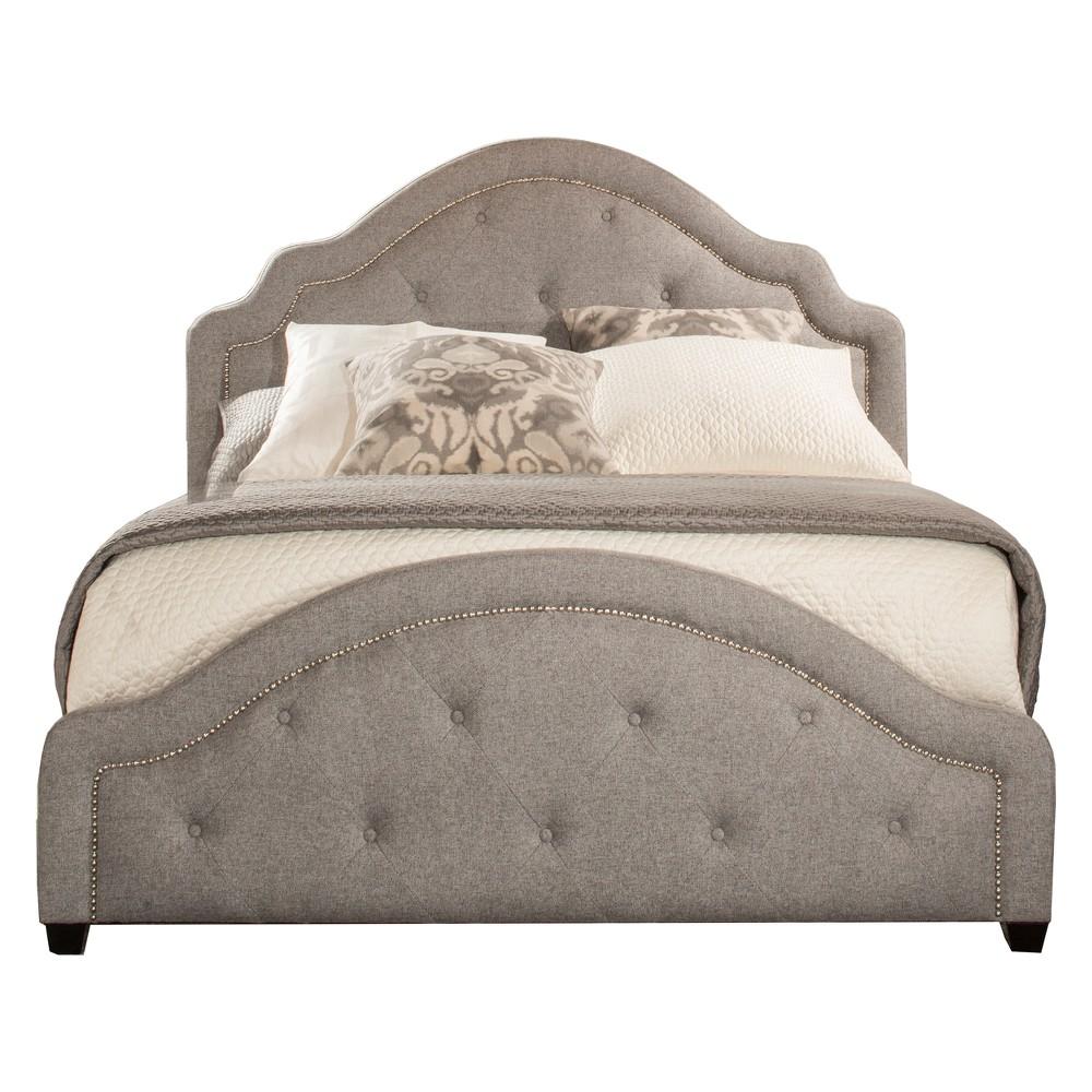 Belize Upholstered Bed Set King Rails Included Light Gray - Hillsdale Furniture