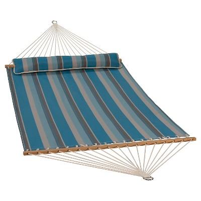 Algoma 13' Quick Dry Hammock with Pillow - Ocean Stripe