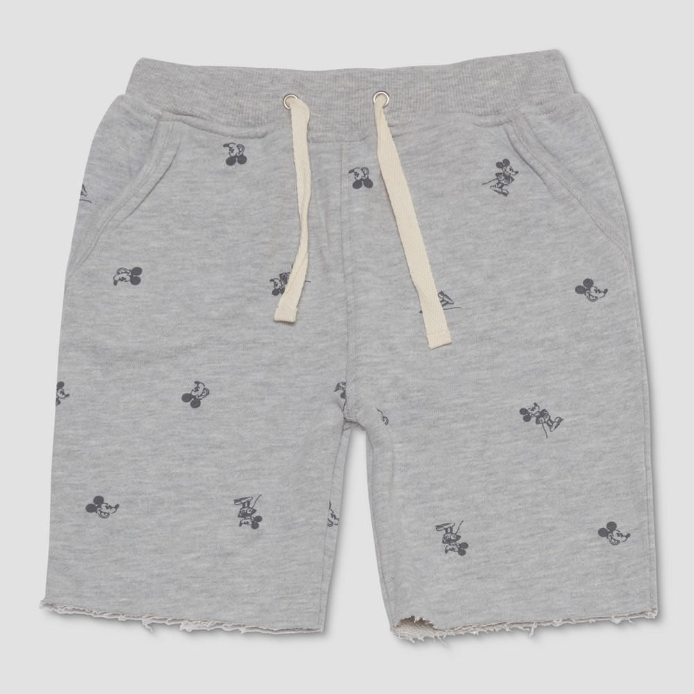 Junk Food Toddler Boys' Disney Mickey Mouse Lounge Shorts - Gray 2T