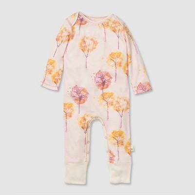 Burt's Bees Baby® Baby Girls' Organic Cotton Fall Foliage Jumpsuit - Purple 0-3M