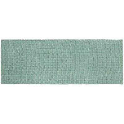 "22""x60"" Low Chenille Memory Foam Bath Rug Green - Threshold™"