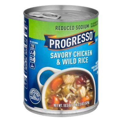 Progresso Reduced Sodium Chicken & Wild Rice Soup 18.5oz