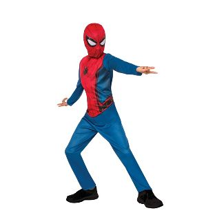 Kids' Marvel Spider-Man (Blue/Red) Halloween Costume Jumpsuit with Mask - S