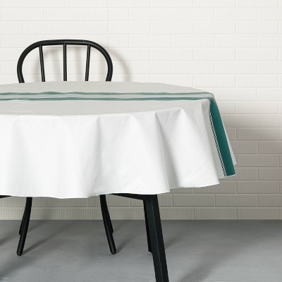 Center Stripes Oil Canvas Tablecloth Teal - Hearth & Hand™ with Magnolia