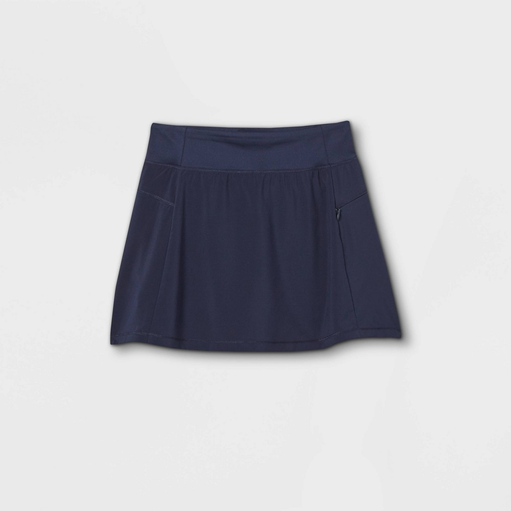 Girls 39 Stretch Woven Performance Skorts All In Motion 8482 Navy L